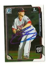 2015 BOWMAN CHROME PROSPECTS AUSTIN VOTH AUTOGRAPH CARD #BCP28 SIGNED IN PERSON
