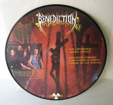 benediction, the grotesque ashen , picture disc 1994 , limited 1000 copies, rare
