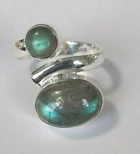 Labradorit Ring, 925 Silber , Gr.54
