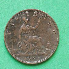 1891 Queen Victoria Farthing SNo44711
