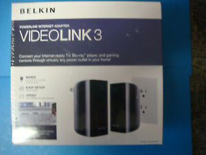 Brand New  Belkin VideoLink 3 Powerline Internet Adapter