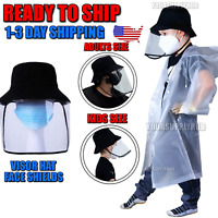 Face Sheild Hat Anti Splash Spray Protection Clear Safety Face Shield