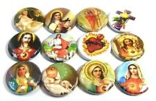 "12 Religious MARY JESUS - Buttons 1"" Badges Pinbacks One inch Catholic Images"