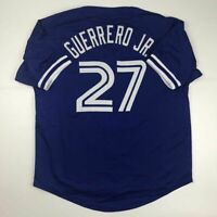 New VLADIMIR GUERRERO JR Toronto Blue Custom Stitched Baseball Jersey Men's XL
