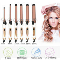 9/13/22/25/28/32mm Ceramic Hair Curler Wand LED Curling Iron Tongs Rollers Tool