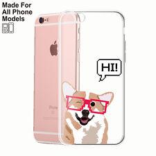 Happy Corgi TPU Phone Case iPhone 8 8+ X 7 6 Plus Galaxy S8 S8+ S7 edge Note 8