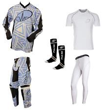 PULSE ABSTRACT BLUE MOTOCROSS MX ENDURO ATV BMX MTB KIT + BASE LAYERS & SOCKS