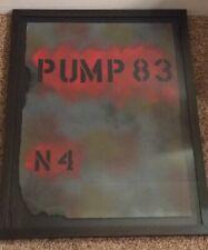 PUMP 83 Oil Spray Paint on Paper Modern Industrial Art Christoph Leroux France