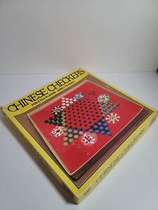 Vintage Checkers Game Board Art Wall Art 1950/'s Retro Bar Children/'s Playroom Retro Decor Vintage Whitman Chinese Checkers Board Game
