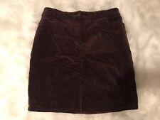 LIZ LANG MATERNITY Cotton Blend Purple Velvet Straight Skirt Maternity SIZE 16