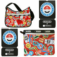LeSportsac Nintendo Mario Travel Classic Hobo Bag Free Ship NWT Super Mario Coin