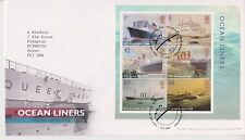 TALLENTS PMK GB ROYAL MAIL FDC 2004 OCEAN LINERS STAMP MINIATURE SHEET