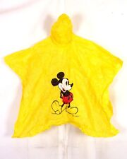 vtg 70s 80s Disney retro Yellow Pvc Mickey Mouse Poncho Theme Park Youth Osfa