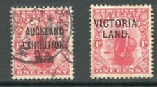 1d Dominion SG413 Used & SG A3 Mint with Overprints Auckland and Victoria land.