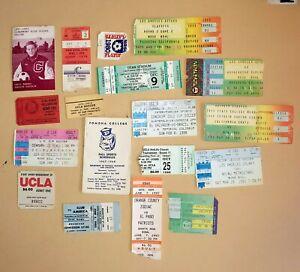1980 LA Aztecs Soccer Game Ticket Stub Lot California Surf Rare UCLA Fullerton +