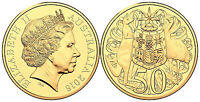 2016 Australia 50 Cents  50c 50th Anniversary  Round Gold Plated  Coin NGC MS69
