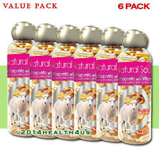 [6-PACK] Bill Natural Sources Lamb Placenta with Vitamin E, 100 gelcaps
