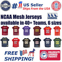 Pets First NCAA Mesh Jersey for Dogs - Licensed, available in 40+ Teams 6 Sizes.