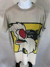 Vintage Looney Tunes Sylvester Cat Single Stitch Graphic T-Shirt Size Xxl