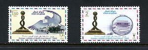 I068  Qatar 2000   birds post office monument   2v.  MNH