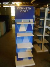 8 Shelf Two Sided Retail Tall Blue & White Store Display
