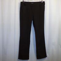 White House Black Market Dress Pants Women's 12R Straight Leg Black Slacks