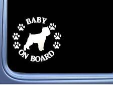 "Baby on Board Affenpinscher L551 6"" Sticker dog decal"