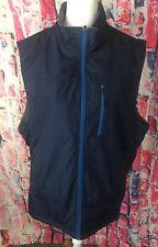 IZOD Mens Navy Water Resistant Reversible Vest Jacket