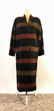Missoni Donna Vintage Wool Multi-Color Plaid/Stripe Ankle Length Coat Size 8