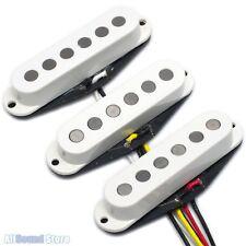 Artec Alnico V Big Pole Pieces Pickup Set for Fender Stratocaster Strat - WHITE