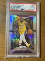 LEBRON JAMES 2019/20 PANINI PRIZM #129 SILVER PRIZM LAKERS SP PSA 10 GEM MINT