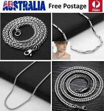 Titanium Surgical Stainless Steel Man Woman Necklace Bracelet Chunky Chain SN67