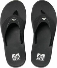 Reef Fanning Black Silver Mens Thongs
