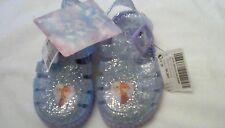 Next Baby Girl Frozen Jelly Bean Pram Beach summer Shoes size 4 glitter  BNWT