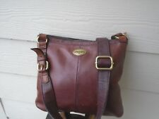 Vintage Fossil brown leather crossbody bag