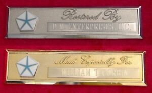 PLYMOUTH PENTASTAR - CUSTOM ENGRAVED DASH PLAQUE