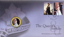 AUSTRALIA PNC B/UNC 2006 THE QUEEN'S BIRTHDAY COIN COVER COLOURED 50c COIN