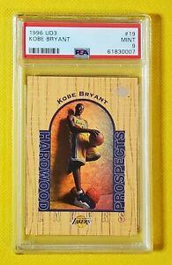 Kobe Bryant 1996-97 UD3 Hardwood Prospects #19 RC Rookie PSA 9 Mint