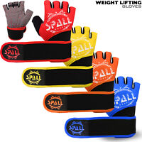Weight Lifting Padded Gloves Fitness Training Body Building Gym Wrist Support