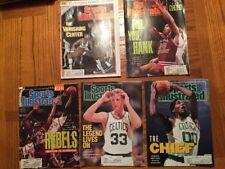 5 Issues of Sports Illustrated 80's & 90's Bird Loyola Parish Wilt Bo Kimble