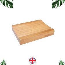 Soap Dish Rack Tray Hemu Wood Bamboo Groovy Soap Holder Plate Bath Kitchen B84