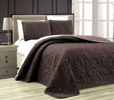 KING Grand Linen 3 Piece Tropical Coast Seashell Beach Quilt Bedspread Coverlet