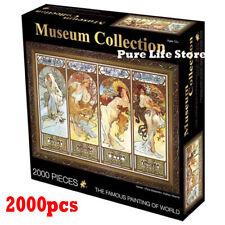 2000pcs JIGSAW famous painting eurographic Puzzle four seasons Alphonse Mucha