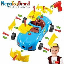 Toy Racing Car Kit - Includes electric toy drill and 30 Take-A-Part Pieces