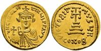 Sale Price Extraordinary Superb Young Constans II Gold Solidus . AD ( 641-668 )