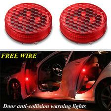 2X Universal Wireless Car Door LED Opened Warning Flash Light Anti-collid New RG