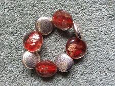 chunky bracelet; elasticated