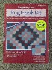 "CARON PATCH WORK QUILT RUG HOOK 18""X28"" KIT HR0010 EVERYTHING NEEDED TO COMPLETE"