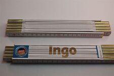 Zollstock mit Namen     INGO    Lasergravur 2 Meter Handwerkerqualität