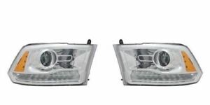Right and Left Projector Headlights For 2013-2015 RAM 1500 2500 3500